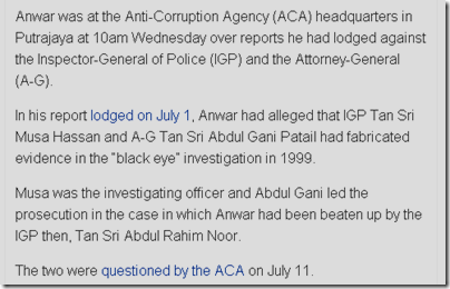 Anuar Allegations Against IGP And AG